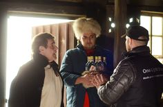 """Photo report from the backstage of the new music video """" or new adventures of foreigners in performed by the famous Alexei and German singer Inusa Dawuda. Photo Report, New Adventures, New Music, Backstage, Vodka, Music Videos, Bears, Russia, German"""