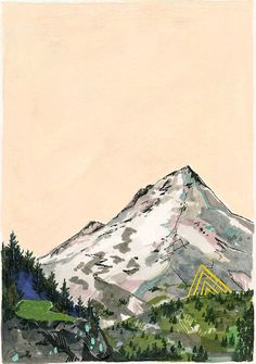 Beyond // 8 x 10 eco-friendly wall art mountain print by Cathy McMurray