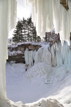 Minnehaha Falls in Winter.
