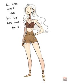 gingerhaze:  A commission forsadie-the-dependable-skeleton, who requested a hipster Daenerys Targaryen! She's meant to reference my oldBroship Eowynpiece.