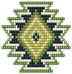 Native Style Green Sunburst