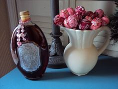 love potion and red/pink blowpop bouquet!  love potion = whatever kind of red drink i want to make.  love potion bottle = whatever kind of bottle and make a love potion sticker!