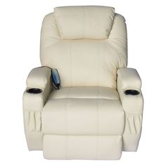 New Oversized PU Leather Heating Massage Recliner Chair Living Room Lounge Seat #ReclinerChair