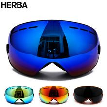 b21ebfd943 Skiing Eyewear New HERBA brand ski goggles Ski Goggles Double Lens Anti-fog  Adult Snowboard Skiing Glasses Women Men Snow Eyewear     This is an  AliExpress ...