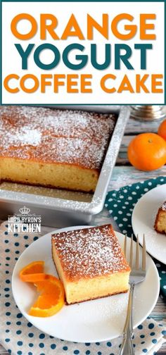 Simple ingredients and flavours are what's needed to prepare the ultimate coffee cake. Orange Yogurt Coffee Cake is such a recipe. Brew a hot cup of coffee and find a quiet place to enjoy a relaxing moment without distraction. This cake deserves nothing less. #yogurt #yogurtcake #coffeecake #orangecake #nofusscake Easy Cake Recipes, Pound Cake Recipes, Brownie Recipes, Baking Recipes, Dessert Recipes, Kitchen Recipes, Cupcake Recipes, Lunch Recipes, Cupcake Cakes