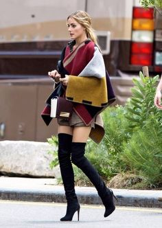 British Celebrity Inspired Trend Black Red Tan Asymetrical Cashmere Pashmina Poncho #wintershoes