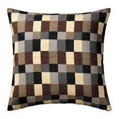 STOCKHOLM Housse de coussin IKEA Revêtement en ramie, un matériau naturel résistant, à la texture légèrement irrégulière.