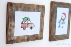 How to make a simple photo frame. This step by step tutorial shows you how to make plywood and plexiglass frames easily without using any fancy tools.
