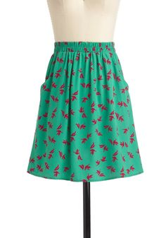 """""""I Dove This Skirt"""" - ModCloth - $39.99  Love the print and the pockets!"""