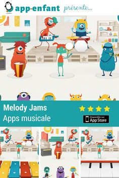 Meloddy jams une app rigolote d'initiation musicale - Gratuite Initiation, Applications, Ipad, Family Guy, Guys, Fictional Characters, Speech Language Therapy, Computer Science, Children