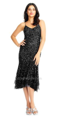 904e23b5bce Flatter your frame in this vibrant Sweetheart Sequin High Low Flounce Cocktail  Dress by Adrianna Papell