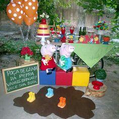 Festa infantil - Proposta de decor Peppa Pig e George Pig
