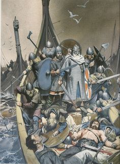 But with the talent and ambition of the royal parentage, Olaf Tryggvason proved himself as a great Viking warrior and later became the Viking king of Norway. The Vikings, Norse Vikings, Art Viking, Viking Life, Viking Battle, Viking Warrior, Dark Ages, Les Runes, Old Norse