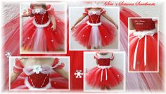 Now available to order! Beautiful Christmas tutu made according to your child´s measurements. Stretchable crocheted top and the skirt is made of dress netting strips. The feather marabou is adjustable and is tied behind the back. You can choose a shimmery or matte top layer. You can choose another length than what has been described below and the price is then calculated accordingly. If you want any other size or length than what you can find in the shop please let me know and I will…