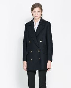 Image 2 of SHORT COAT WITH POCKETS from Zara