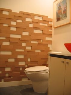 Fiberboard-mdf board In varying lengths, widths & depths- nail to wall. Cover nails with paintable caulk. Then can paint white. Or secure to wall with wood glue and leave in natural color Deco Design, Wall Design, Diy Casa, Modular Walls, 3d Wall Panels, Mirror Panels, Fireplace Wall, Cool House Designs, Wall Treatments