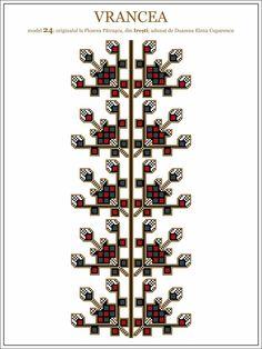 Semne Cusute: iie din MOLDOVA, Vrancea, Iresti Folk Embroidery, Embroidery Patterns, Cross Stitch Patterns, Romania People, Wedding Day Timeline, Moldova, Hama Beads, Beading Patterns, Pixel Art