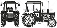 Vector Agricultural Tractor Silhouettes #GraphicRiver Available AI, CDR -12 and EPS vector formats separated by groups and layers for easy edit. More transportation illustrations see in my portfolio. Also you can check at my Collections: Vector Cartoon Cars Vector Cartoon Trucks Detailed Vector Cars modern and retro Detailed Vector Trucks Vans Tractors and Pickups Detailed Vector realistic and cartoon styled Buses Vector aircrafts, airplanes, retro, modern, blueprints, silhouettes and aerial…