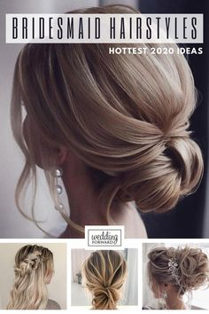 48 Hottest Bridesmaid Hairstyles For 2020 Tips Advice Looking for the suitable black women wedding hairstyles? We are offering some interesting wedding hairstyles that look great. Bridesmaid Hairstyles, Wedding Hairstyles, Soft Waves Hair, Big Barrel Curls, Blonde Braids, Elegant Updo, Wedding Hair Pieces, Hairstyles For School, Hair Designs