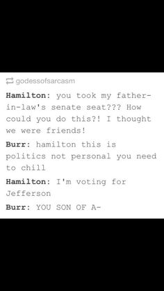 The sass is always real for Hamilton