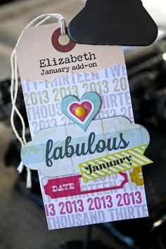 #CocoaDaisyKits January 2013 Elizabeth Kit Sneak Tag