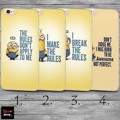 Minions Bob Stuart Kevin THIN case cover iPhone 4 4s 5c 5s SE 6 6s 7 8 plus+