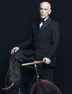 John Malkovich rides...