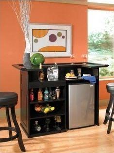 Home Bar Furniture With Fridge - PERFECT!