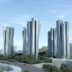 Residential towers on Farrer Road in Singapore by Zaha Hadid.