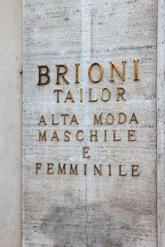 birdcagewalk:  beyondfabric:Outside Brioni, Rome