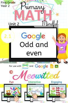 MATH - Odd and even is an interactive digital resource to help students grasp the basics of math in a fun and engaging way! Primary Maths, First Grade Math, Student, Google, Fun, Fourth Grade Math, 1st Grade Math, Funny