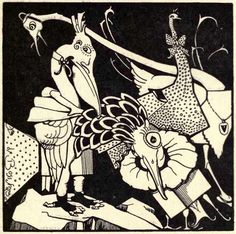 jean de bosschère from 'weird islands' (1921) - i'm finding that i'm unusually drawn to human forms with birds' heads