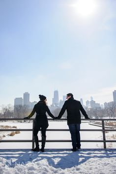 Chicago Winter Engagement Photos - Lincoln Park Snow | Chicago Destination Wedding Photographer - Nakai Photography Blog