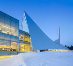 Monique Corriveau Library Housed in an Old Church // Dan Hanganu and Cote Leahy Cardas Architects