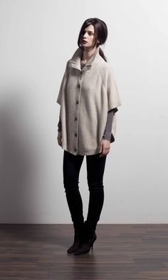 Peak button front poncho in Winter Fall Winter, Normcore, Image, Button, Collection, Spring, Blog, Style, Fashion