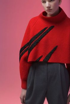 graphic embroidery - Vika Gazinskaya - fall winter 2016