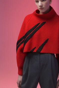 graphic embroidery - Vika Gazinskaya - fall winter 2016