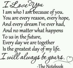 Notebook wedding vows(: