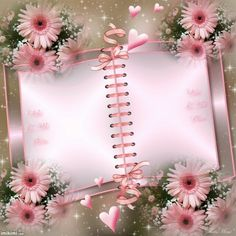 Flower Boarders, Flower Frame, Frame Background, Paper Background, Pink Picture Frames, Foto Frame, Happy Birthday Wallpaper, Book And Frame, Invitation Background