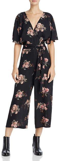 81135f609 June & Hudson V-Neck Floral Print Jumpsuit - 100% Exclusive Macacão Floral,