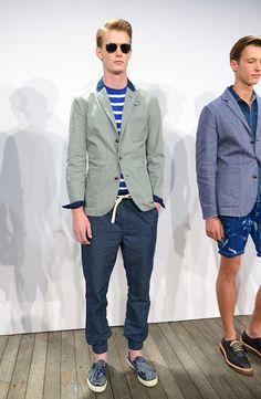 J Crew coleccion primavera verano 2014 New York Fashion Week J Crew, Gq, Men's Style, Mens Fashion, Blazer, Celebrities, Jackets, Clothes, Color
