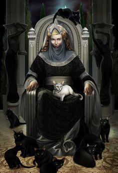 Ten cats of Queen Beruthiel by steamey.deviantart.com on @deviantART