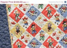 baby quits in country | Retro Cowboy Quilt Baby Blanket Western Country Vintage Yippee--etsy