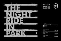 The Night Ride poster for the first indoor skatepark in Kharkiv, Ukraine. By Maa Luvs
