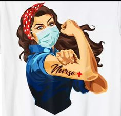 Rosie Riveter 08 - Postal Worker USPS Frontline Workers - Sublimation Transfer Set/Ready To Press S Nurse Clip Art, Adobe Illustrator, Nurses Week Gifts, Rosie The Riveter, Nursing Memes, Medical Memes, Funny Nursing, Nurse Quotes, Nurse Life