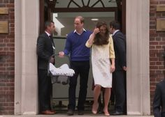 May 2, 2015 - William and Kate leave the Hospital with their baby girl