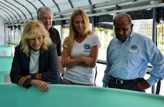 Actress Loretta Swit of M*A*S*H TV fame with Dr. Kumar Mahadevan, president of Mote Marine Laboratory in Sarasota, Florida in 2012.  Mote is dedicated to today's research for tomorrow's oceans with an emphasis on world-class research relevant to conservation and sustainable use of marine biodiversity, healthy habitats and natural resources. Mote is an alliance member of Sister Cities Association of Sarasota since 2002.