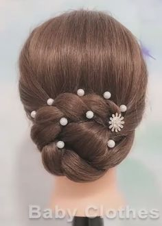 Super Easy Hairstyles, Twist Braid Hairstyles, Bun Hairstyles For Long Hair, Braids For Short Hair, Long Hair Wedding Styles, Long Hair Styles, Wedding Hairs, Long Hair Video, Hair Videos