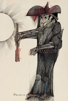 aquarela s/ papel, ass. e dat. 1966 inf. esq. ex-coleção Lucien Finkelstein  52,5 x 35,5 cm