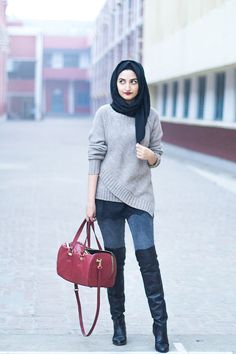 hijab flat boots and jeans - Google Search